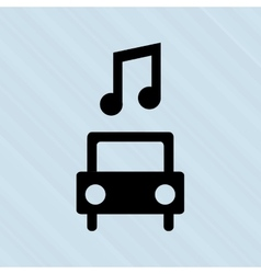 Car and musical note design vector