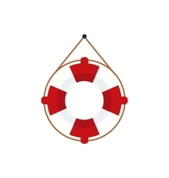 Life preserver for the boat vector