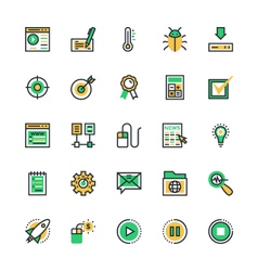 User interface and web colored icons 9 vector