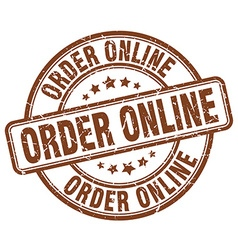 Order online brown grunge round vintage rubber vector