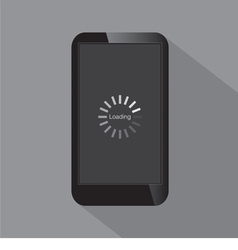 Loading Screen On Smartphone vector image