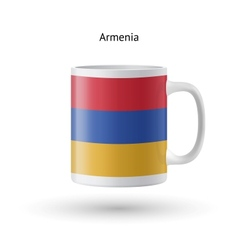 Armenia flag souvenir mug on white background vector