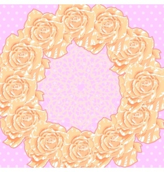 Background with Cream Roses vector image vector image