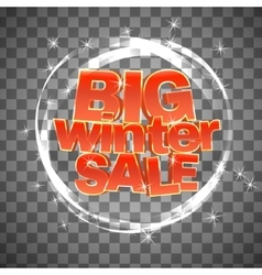 Big winter sale on transparent background vector