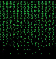 Binary code green and dark background digits on vector