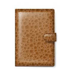 Brown leather wallet on white background vector