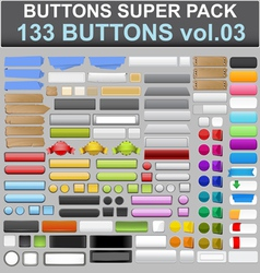 buttons super pack 3 vector image