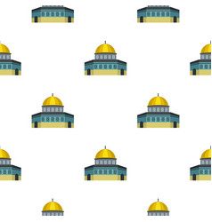 Dome of the rock on temple mount pattern flat vector