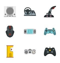 Fantasy games icons set flat style vector