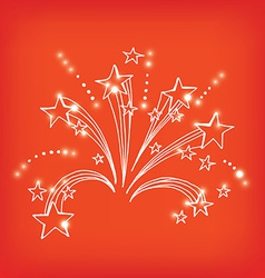 Firework icon sketch design vector image vector image