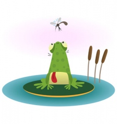 frog and gnat vector image