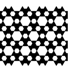 Geometric seamless pattern black white hexagons vector
