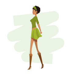 Happy woman fashion slim vector