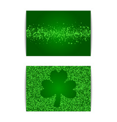 horizontal saint patricks day banner template vector image
