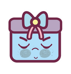 Kawaii angry and cute gift design vector