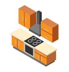 kitchen icon isometric style vector image