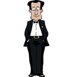 man in a bow tie vector image vector image