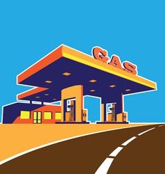 modern petrol station vector image