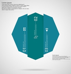 Octagon infographic template vertically divided to vector image