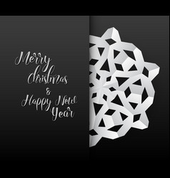 paper christmas snowflake card vector image vector image