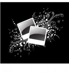photo frames background vector image