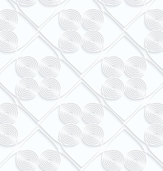Quilling white paper circles with offset inside vector
