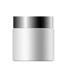 Realistic mock up of cream container vector