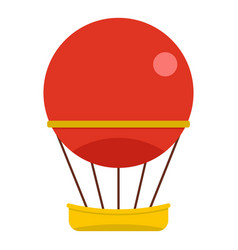 Red aerostat balloon icon isolated vector