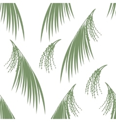 Seamless pattern berries and leaves of acai palm vector