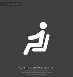 seating man premium icon vector image