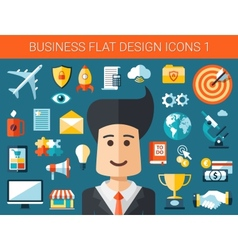 Set of modern flat design business infographics vector image