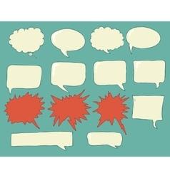 Speech bubbles voice bubble set hand drawing vector image