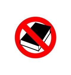 Stop book It is forbidden to read Frozen vector image vector image