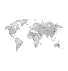 stylized map of world vector image vector image