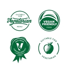 Suitable for vegetarian vegan related labels set vector