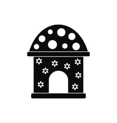 Toy house black simple icon vector image vector image