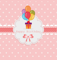 vintage happy birthday vector image vector image