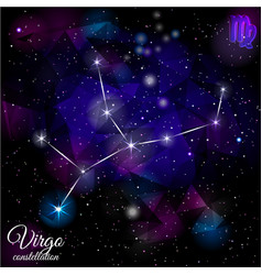 Virgo constellation with triangular background vector