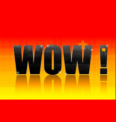 wow text vector image vector image