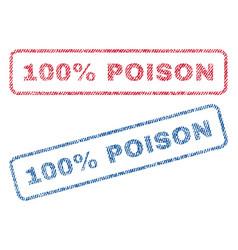 100 percent poison textile stamps vector