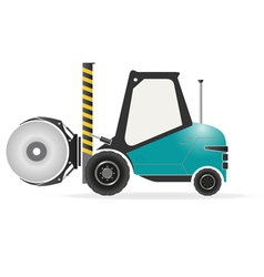 Forklift with paper roll clamp vector