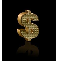 Dollar sign vector image