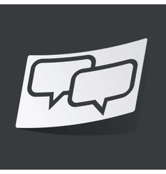 Monochrome chat sticker vector