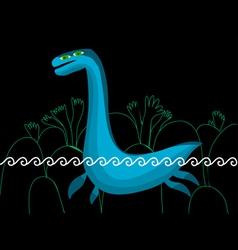 plesiosaurus in the sea vector image