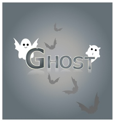 Ghost design background vector