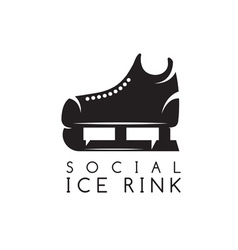 Concept of social ice rink vector
