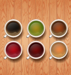 Types of tea tea cups vector