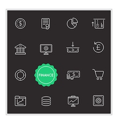Set of finance money elements can be used as logo vector