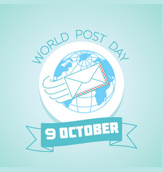 9 october world post day vector image vector image