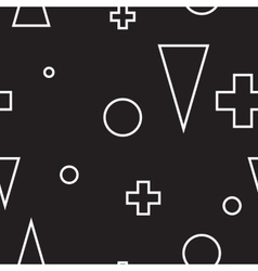 Geometric minimalist modern seamless black and vector